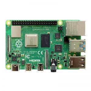 Fotografía de la placa Raspberry Pi 4 modelo B