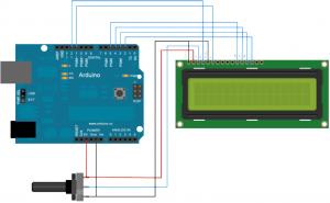 Diagrama de Display LCD