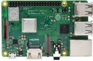 Fotografía de la placa Raspberry Pi 3 modelo B+