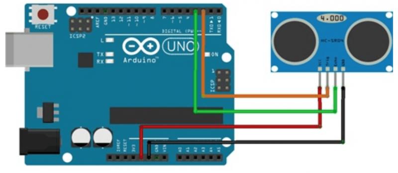 Diagrama de Sensor Ultrasonico
