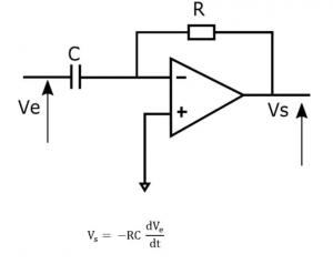 Amplificador operacional detector de picos de corriente.