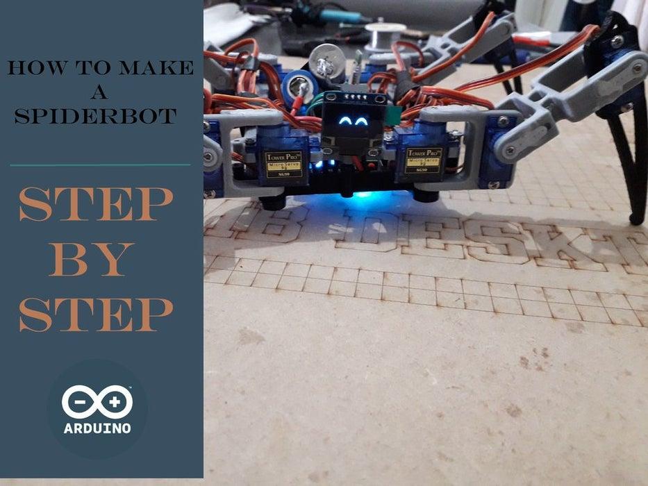araña robotica con OLED