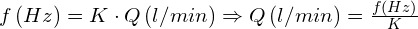 Formula de calculo de caudalimetro