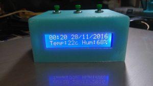 arduino reloj de temperatura