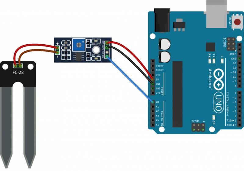Diagrama de conexión con Arduino UNO con FR-28