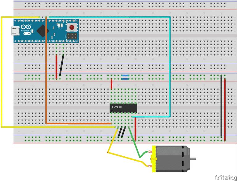 Diagrama Conexion Puente H L293D.