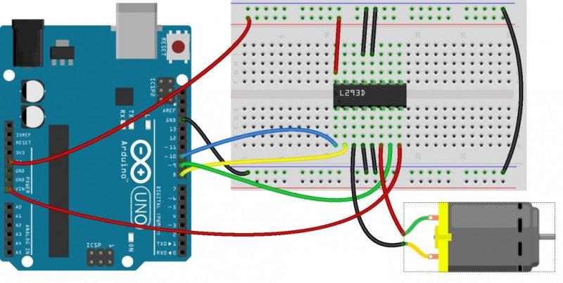 Diagrama de Conexion Puente H L293D
