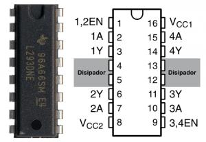 Diagramas Pinout L293D
